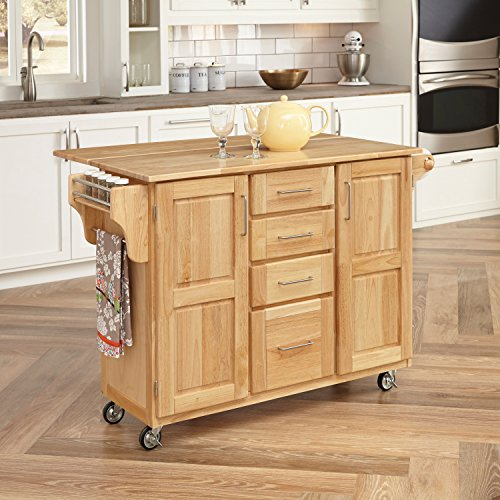 Home Styles Kitchen Center with Breakfast Bar, Natural Finish