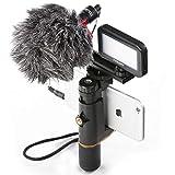 Großartig für Flim-Macher ---- Es ist ein Muss für Sie, wenn Sie die Aufnahme von hochwertigen Videos lieben, macht es das Schießen von Videos viel einfacher, da Sie einen viel besseren Griff mit LED-Beleuchtung und Mikrofon haben Professionelles Sma...