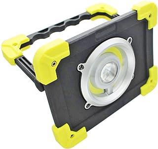 Maximus 20 W LED stojąca 1200 lumenów moc i 160 odległość wiązki światła – ładowana przez USB latarka robocza, czarna, żółta
