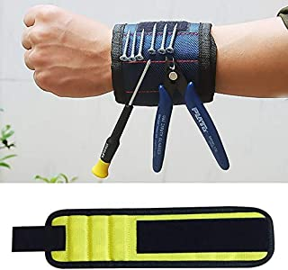 Meritstore Industrial & Scientific .1680D Oxford Cloth Pocket Magnetic Wristband Storage Pockets Tool(Black) (Color : Yellow)