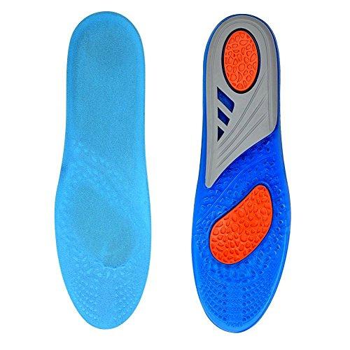 GEL Sport Komfort Einlegesohlen, Herrlicher Laufkomfort für Füße, Beine und Rücken, speziell bei Fersensporn, entlasten Fußschmerzen und Fasciitis