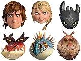Star Cutouts–stsmp293–6Masken für Erwachsene–Dragon 2–6Figuren Sortiert–Einheitsgröße
