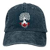 Hoswee Baseballmütze Hüte Kappe Unisex Baseballmütze Kanadische Wurzeln Vintage Jean Dad Hut für Frauen