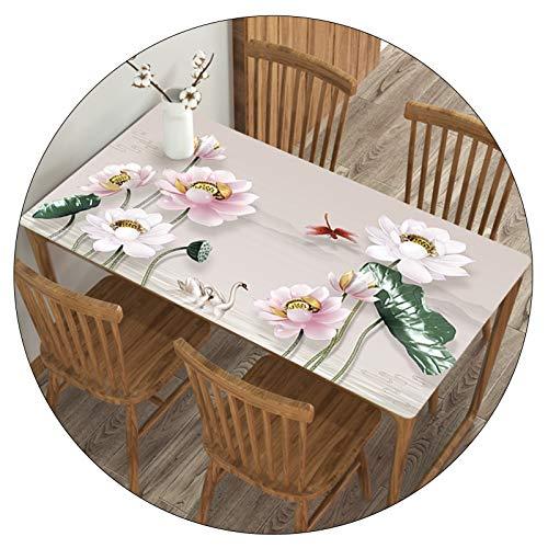 Clásico Cubierta De Mesa Paño para Cocina Y Comedor Impermeable Y a Prueba de Aceite Anti-Quemaduras Mantel Individual Mantel, A Medida ALGFree (Color : A, Size : 85x135cm)