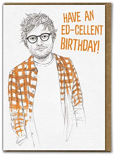 Brainbox Candy - Divertida tarjeta de cumpleaños humorística – 'Ed-Excellent Birthday' – Interior en blanco para tu mensaje – Para amigos compañeros de compañeros, él y su novio y novia.