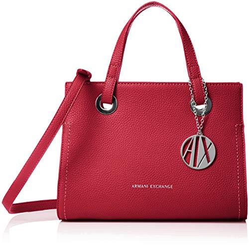 ARMANI EXCHANGE Small Shopping Bag - Borse Tote Donna, Rosso (Royal Red), 20x13x26 cm (B x H T)