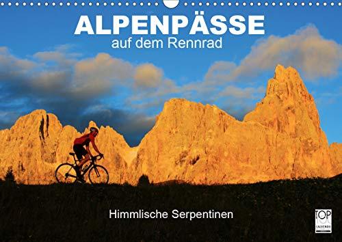"""Alpenpässe auf dem Rennrad\""""Himmlische Serpentinen\"""" (Wandkalender 2021 DIN A3 quer)"""