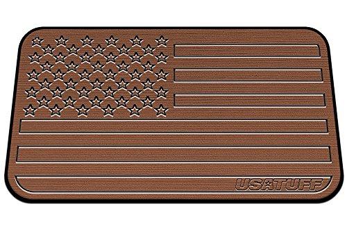 USATuff Cooler Pad for Yeti - Fits Tundra 50qt - SeaDek Marine Grade EVA Mat - Tan/Black - USA Flag