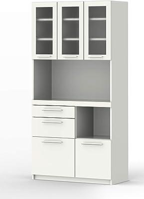 パモウナ 食器棚YC プレーンホワイト 幅90×高さ180×奥行40 日本製 YC-S900R [並行輸入品]