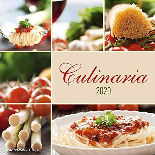 Culinaria 2020 - Broschürenkalender (30 x 60 geöffnet) - Wandkalender - Küchenplaner - Küchenkalender - Wandplaner