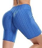 Lalamelon Mallas Cortas Push Up Mujer Pantalones Cortos Deportivos Cintura Alta Yoga Leggings Pantalón de Verano Fitness Leggins Shorts Running Elásticos Cómodo y Transpirable