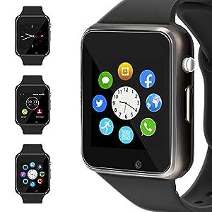 Fashion Shopping WJPILIS Smart Watch Touchscreen Bluetooth Smartwatch Wrist Watch Sports Fitness Tracker with SIM SD Card Slot Camera…
