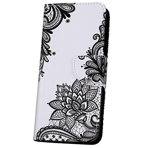 JAWSEU Flip Portemonnee PU Lederen Hoesje Compatibel met Xiaomi Redmi GO Flowers-3