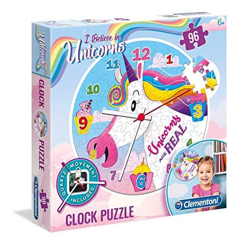 Clementoni 23035 Klok Unicorn Puzzel, 96 Delige