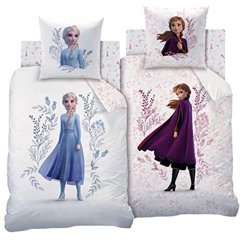 Cti Disney Frozen 2 Anna Elsa Niña Ropa de Cama Reversible Set Flowers
