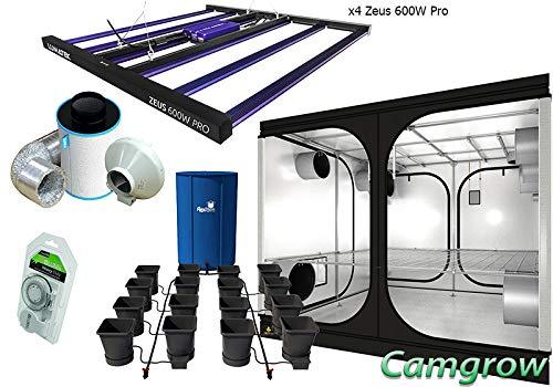 Grow Tent Kits - Autopot XL System, LED Lumatek, SJ Tent & Ram Extraction Kit (Kit Dr 240 + x4 Zeus 600W P+ Autopot 16 pot System)