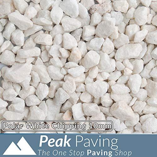 Polar White Decorative Aggregates Slate Pebble Chippings Garden Gravel 10mm 20 Kg