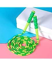 RUIYELE 1 stks Zachte Kralen Jump Rope Verstelbare Segment Skipping Rope Tangle-Free Jump Rope voor Kinderen, Studenten, Man, Vrouwen Sport, Training, Workout, Gewichtsverlies (Blauw)
