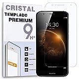 REY Protector de Pantalla para Huawei Ascend G8 GX8 Cristal Vidrio Templado Premium