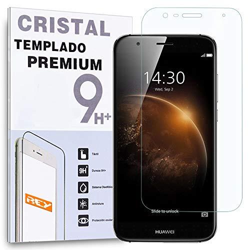 REY Protector de Pantalla para Huawei Ascend G8 GX8 Cristal Vidrio Templado...