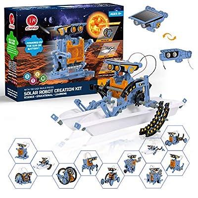 CIRO Solar Robot Kit 12-in-1 Science STEM Robot Kit Toys for Kids Aged 8-12 and Order