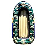 MU Barco de pesca de aire, Bote neumático embarcación neumática Pesca Set 4 Persona canoa con los deportes acuáticos a pedales