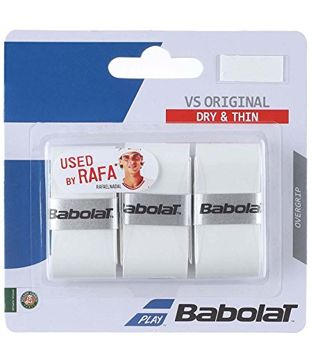 Babolat Vs Original X3, Accessorio Racchetta Unisex-Adulto, Bianco, Taglia Unica