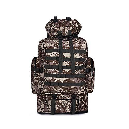 koowaa 100 l Militär-Rucksack, groß, zum Wandern, Klettern, Camouflage, Taschenrucksack, Sport, Camping, Reiserucksack
