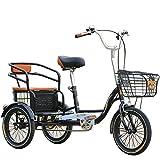 Triciclo Bicicleta de 3 Ruedas para Adultos de 16 Pulgadas p