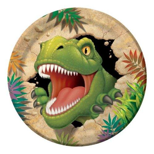 Unbekannt 8-teiliges Teller-Set * Dinosaurier * für Kindergeburtstag // Kinder Geburtstag Party Dino T-Rex Dinos Saurier Pappteller Partyteller