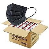 2000 PCS Black Disposable Face Masks (40 Packs, 50pcs/pack), Wholesale Bulk Disposable Mask, Non...