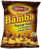 Osem Bamba Hazelnut Cream Peanut Butter Snacks All Natural Corn Puffs, 2.1oz