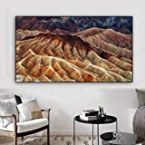 N / A Abstraktes typografisches Plakat Desert Valley Gemälde auf Leinwand Bild Wohnzimmer Home Decoration Gemälde Rahmenlos 60x105cm