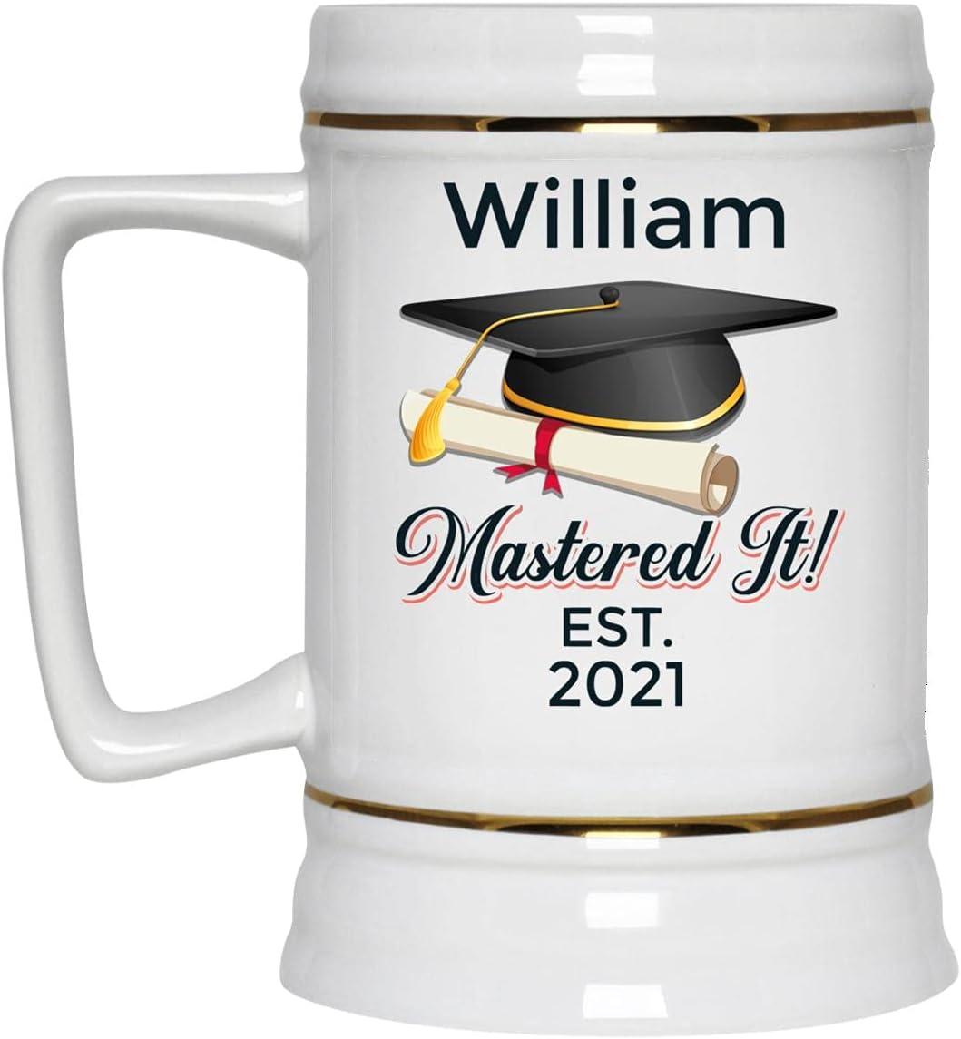 Flesdo Personalized Graduation Mastered It Mug Now free shipping G - Custom Coffee Brand new