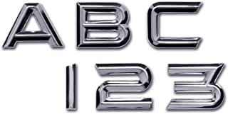 Personalized Set of Chrome Auto Letters and Numbers - Electric Style