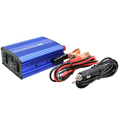 メルテック 車載用インバーター 2way(USB&コンセント) DC12V コンセント2口(120W/300W) USB1口2.4A 静音タイプ Meltec SIV-300