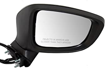 Passengers Power Side View Mirror with Signal Ready-to-Paint Replacement for Mazda 6 Mazda6 GJR969121C AutoAndArt
