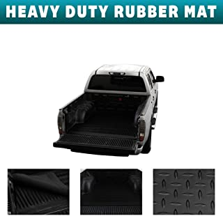 Velocity Concepts Black Finished 6.5 Ft Truck Bed for 1999-2016 Ford F250 / F350 / F450 Rubber Diamond Floor Mat Carpet
