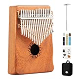 1. Made by solid mahogany resonance box and carbon steel keys, giving you a better sense of hearing, vision and touch. 2. So easy to use, you just need to use two thumbs play to make a great sound. It's great a gift for a music lover of any age. 3. S...