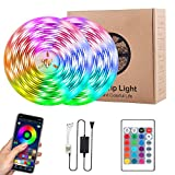 LED Strip Lights, Attuosun 32.8feet/10M RGB LED Strips Flexible Color Changing 300LEDs 5050 Waterproof Rope Lights with Bluetooth Controller Sync to Music and 24Key Remote Control for Home,Party