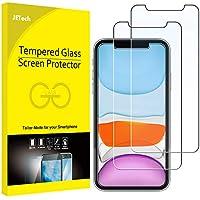 """JETech Protector de Pantalla Compatible iPhone 11 y iPhone XR 6,1"""", Vidrio Templado, 2 Unidades"""