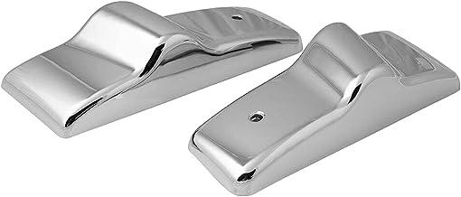 MERIGLARE Suportes de cobertura do espelho da porta lateral, de plástico cromado esquerdo e direito, para Freightliner, pe...
