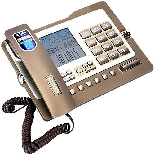 VERDELZ Teléfono Fijo Teléfono Fijo Teléfono Fijo Teléfono De Escritorio Estilo Simple Pantalla De Identificación De Llamadas Teléfono para Accesorios De Hotel De Oficina En Casa