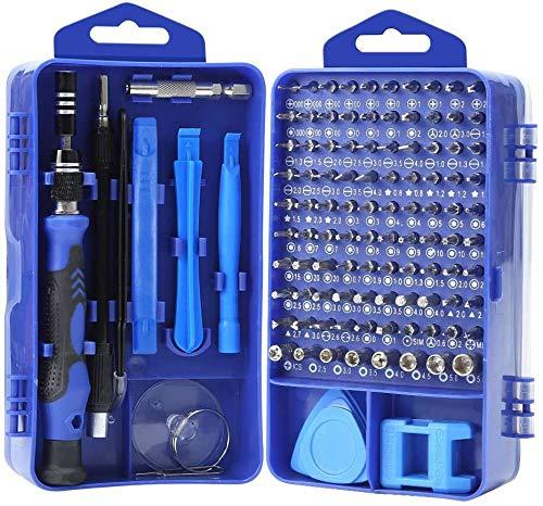 Yinsan Mini Schraubendreher Set, 120 in 1 Feinmechaniker Set, Werkzeug set, Präzisionsschraubendreher Set für iPhone, Laptop, Tablet, Uhren, Kamera, usw