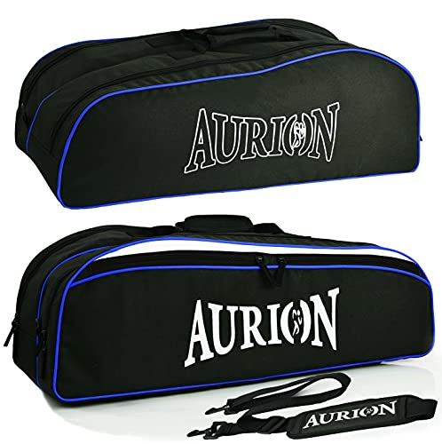 Aurion - Borsa da tennis per 6 racchette imbottite per proteggere racchette e giocatori di tennis leggeri professionisti o principianti, design unisex per uomini, donne, giovani e adulti (blu/nero)