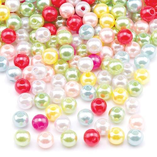 Baker Ross Cuentas de Perlas de Colores (Paquete de 300) Para crear joyas y manualidades infantiles