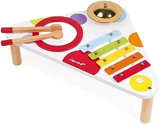 Janod - Table Musicale en Bois Confetti - Instrument de Musique Enfant - Jouet d'Imitation et d'Éveil Musical - Dès 1 An, ...