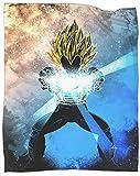 Coobal Soul of the Final Flash Manta reversible Anime Dragon Ball Z Goku Manta de forro polar...
