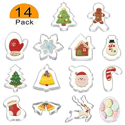 14 Piezas Moldes Galletas Navidad Moldes Acero Inoxidable