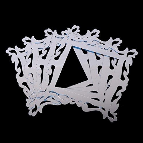ZZALLL 4 Piezas Espejo luz Interruptor Pared calcomanía Envolvente Pegatina decoración DIY 3D Arte extraíble